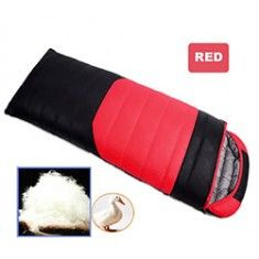 RioRand Duck Down Sleeping Bags Outdoor Camping & Hiking Ultralight Splicing Sleeping Bag for Adults Duck down Content 1kg(Red & -5℃ to 8 ℃ /23 ℉ to 46.4℉)