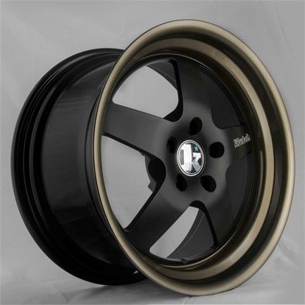 """Why is it that every time I find a set I like It doesn't come in a 17"""" - Klutch SL5 Matte Black with Bronze Lip - Klutch Wheels on sale, cheap rims, cheap wheels from Klutch at discount prices - Wheel Warehouse Online"""