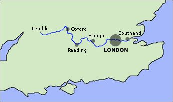 "The Thames river, inspiration for the term ""Estuary English"""
