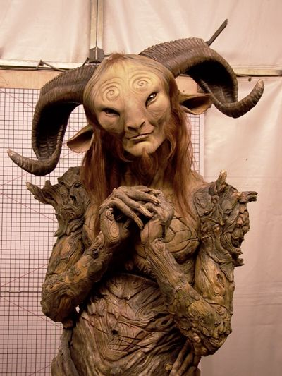 After 5 hours, Doug Jones has become El Fauno, the mysterious satyr that tempts and beguiles Ofelia (Ivana Baquero).  Despite the incredibly detailed and all-encompassing prosthetic design, the artists at DDT Efectos Especiales create a wonderfully emotive character that Doug can explore using the most subtle of expressions.
