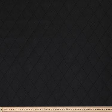 Quilt Pad Fabric Black 140 cm