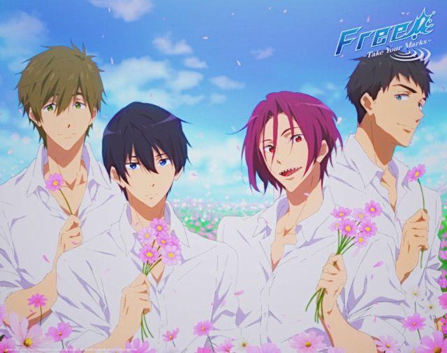 The Most Handsomest Boys Free Takeyourmarks Makoto Haruka Rin Sousuke Free Anime Free Iwatobi Free Anime Sousuke