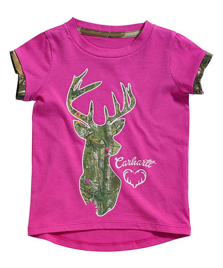 Look at this #zulilyfind! Carhartt Wild Fuchsia Camo Deer Tee - Toddler by Carhartt #zulilyfinds