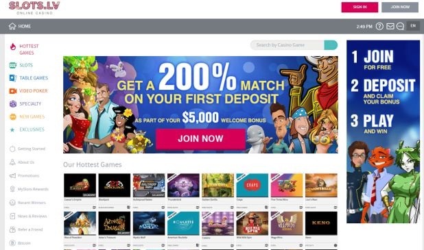 Online Casino Slots for US Players $22 No Deposit Trial