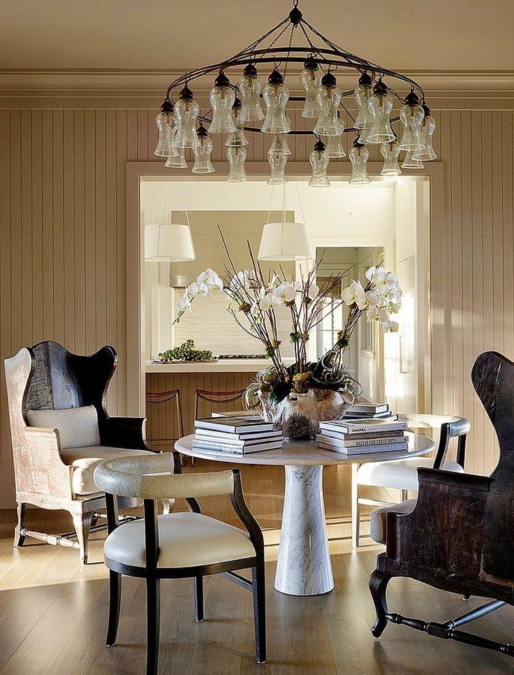greige design: Modern wine country...chairs & chandi