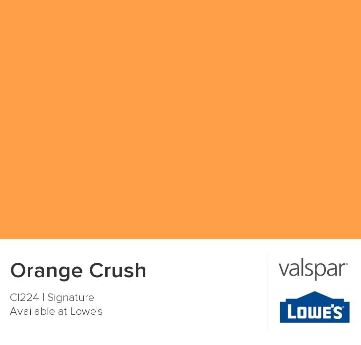 Orange Crush From Valspar Remodel Color Pinterest