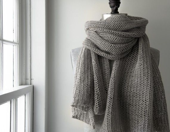 Open Air Wrap in Linen Quill | Purl Soho - Create