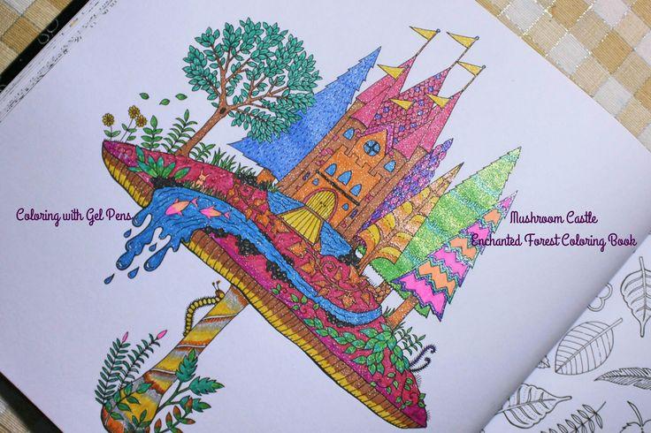 Coloring With Gel Pens Mushroom Castle