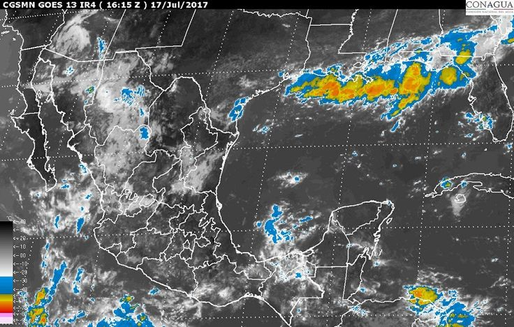 Hoy, se prevén tormentas intensas en regiones de Chiapas; tormentas muy fuertes en zonas de Chihuahua, Sinaloa, Nayarit, Jalisco, Colima, Michoacán, Guerrero, Oaxaca y Veracruz, y tormentas locales fuertes en ...