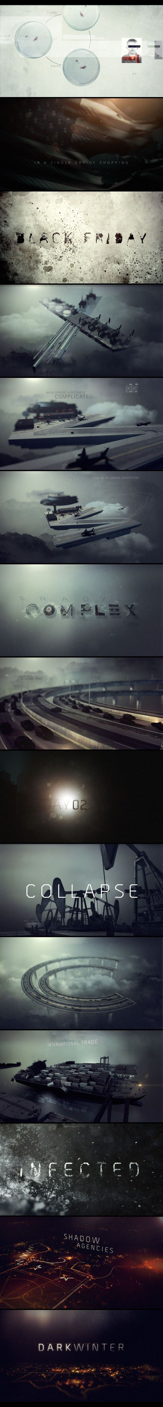 Fantastic motion graphics from the teaser trailer for Tom Clancy's The Division.