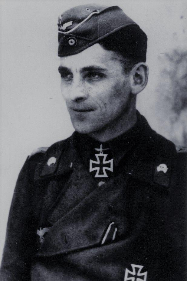 Major Johann Spielmann (1916-2005), Kommandeur Sturmgeschütz Brigade 202, Ritterkreuz 27.03.1942, Eichenlaub (804) 28.03.1945