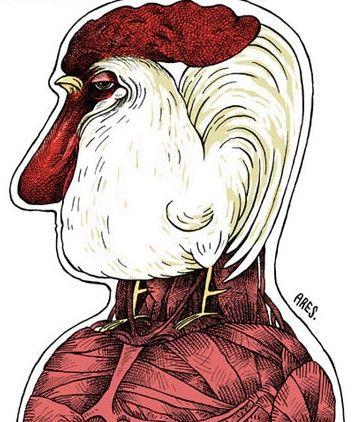 Caricatura de Ares. Arístide Esteban Hernández Guerrero (Ares) es el caricaturista cubano con mayor número de premios nacionales e internacionales. Graduado de médico y psiquiatra, es caricaturista, ilustrador y pintor autodidacta. #Ares #caricaturista #cubano #Cuba #premio #medico #psiquiatra #ilustrador #pintor #pintura #caricatura