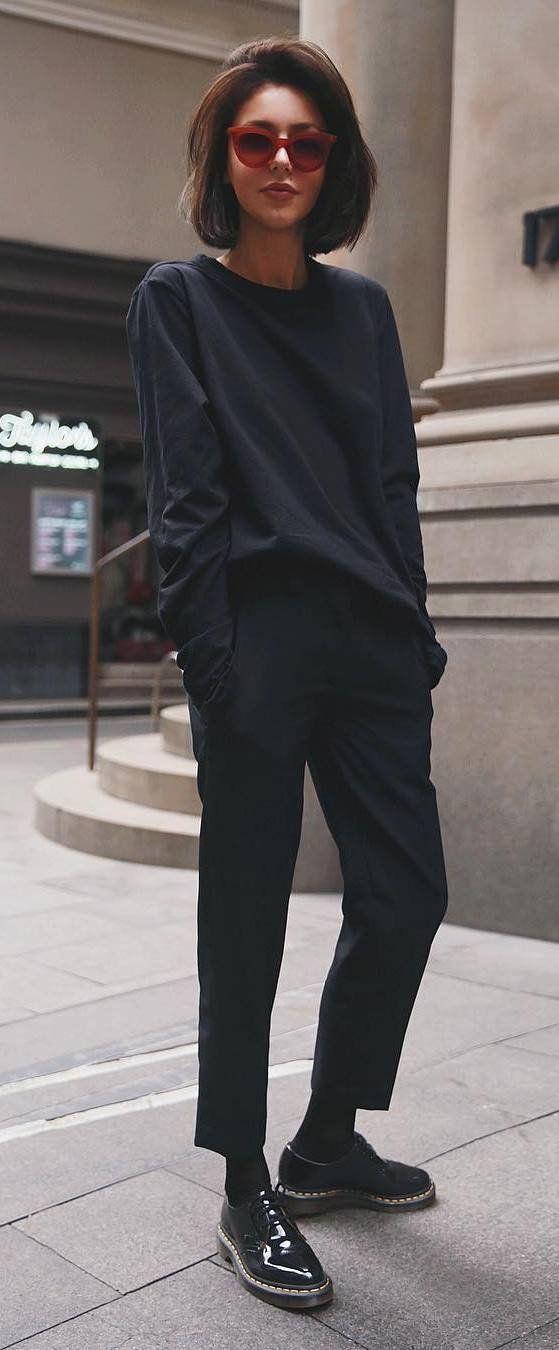 black fashion inspiration / top + pants + boots – …
