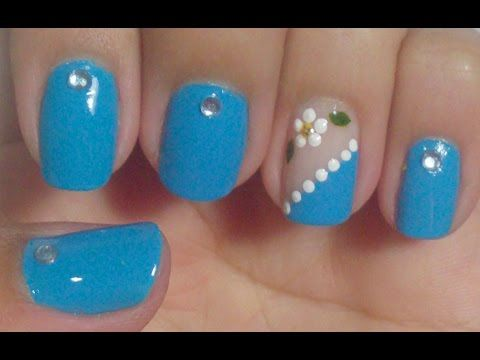Unhas Decoradas com Flores para a Primavera Manual Bela e Simples - YouTube
