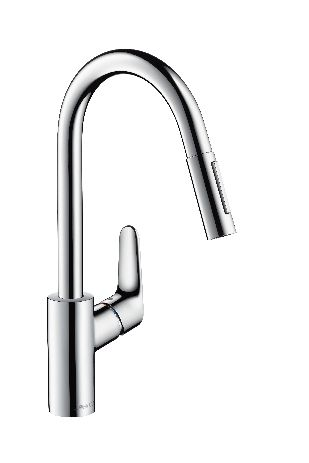 Single lever kitchen mixer with pull-out spray Hansgrohe £240