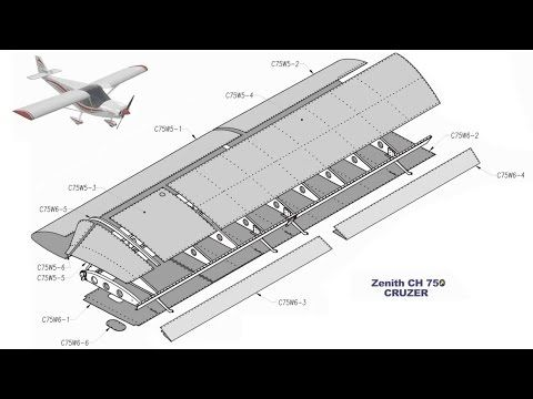 Building the Zenith CH 750 Cruzer kit airplane: Part Three: Top Wing Skins - YouTube