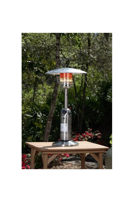 Fire Sense 60262 Stainless Steel Table Top Patio Heater Stainless Steel Outdoor Heater Free Standing