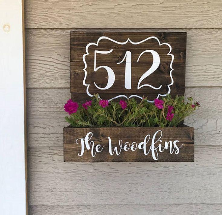 9 fantastische DIY Hausnummer Ideen für Sie – #DI…