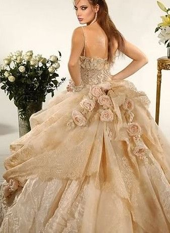 Best 25+ Gold wedding gowns ideas on Pinterest | Gold ...