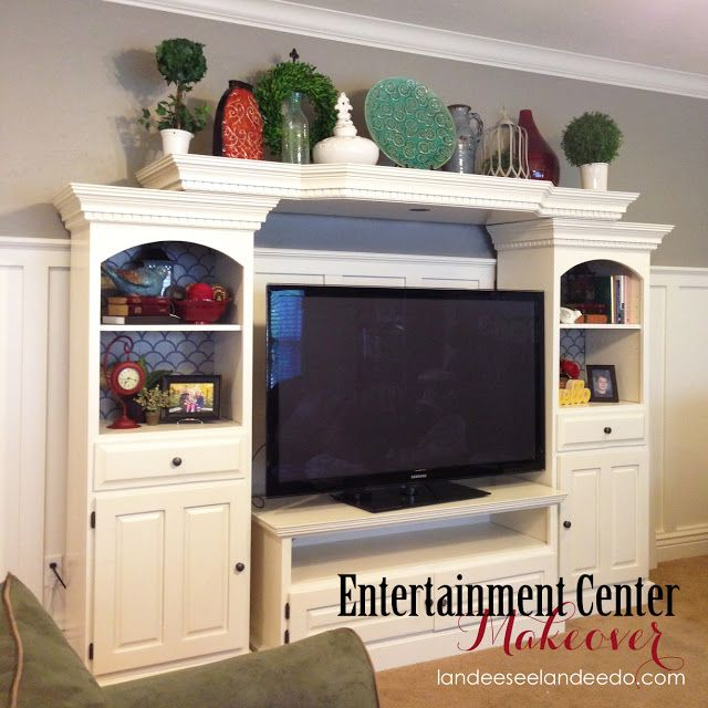 Landee See, Landee Do: Scale Pattern Bookcases-- Entertainment Center Makeover
