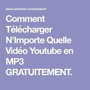 Comment Télécharger N'Importe Quelle Vidéo Youtube en MP3 GRATUITEMENT.