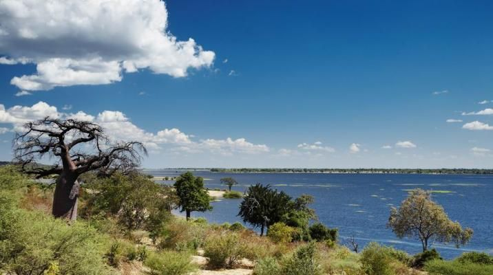 Chobe River i Chobe Nationalpark i Botswana