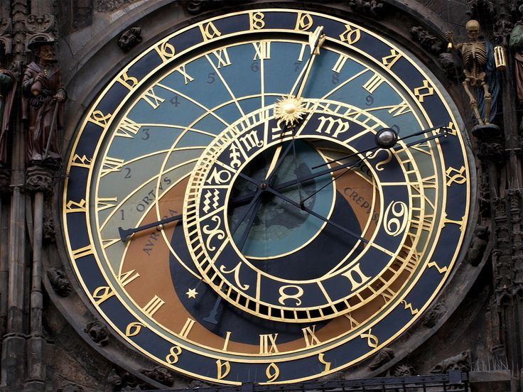 A large clock face. This clock has more symbols on it than gears.