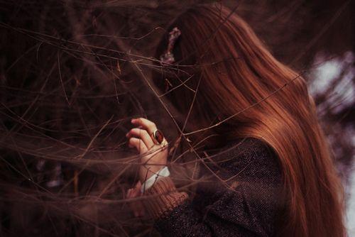 #redhead #woods