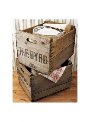 cassetta vintage in legno eco design originale