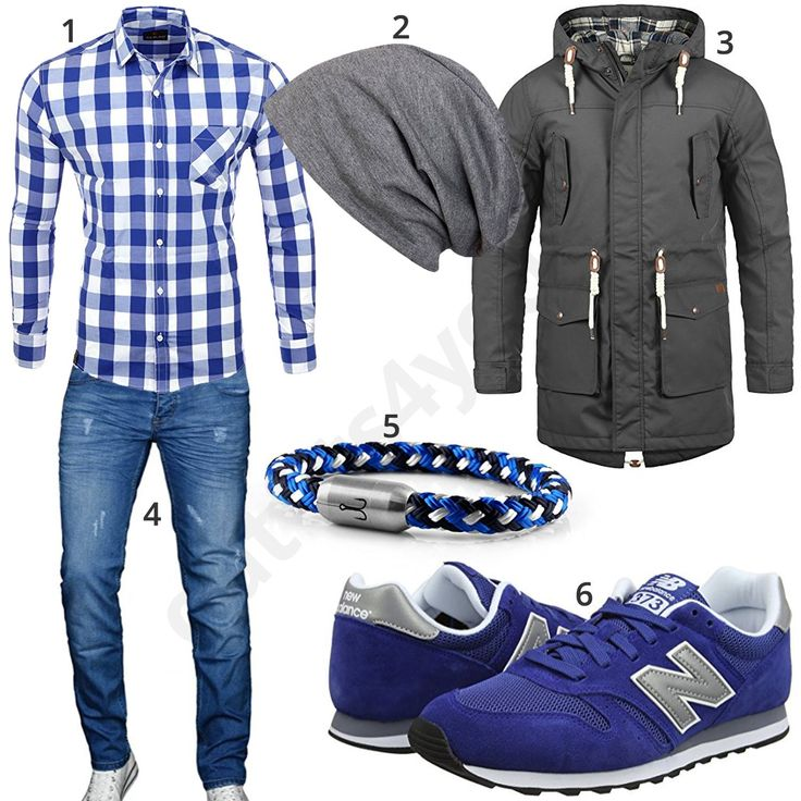 Blau-Graues Herrenoutfit mit Sneakern, Armband und Hemd (m0991) #blau #grau #hemd #jacke #jeans #armband #sneaker #outfit #style #herrenmode #männermode #fashion #menswear #herren #männer #mode #menstyle #mensfashion #menswear #inspiration #cloth #ootd #herrenoutfit #männeroutfit