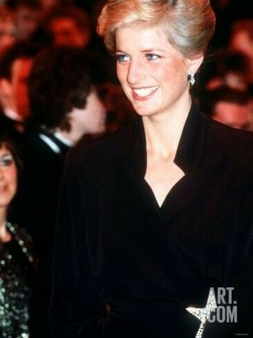 January 29, 1989: Princess Diana at the Laurence Olivier Awards, Dominion Theatre, London.