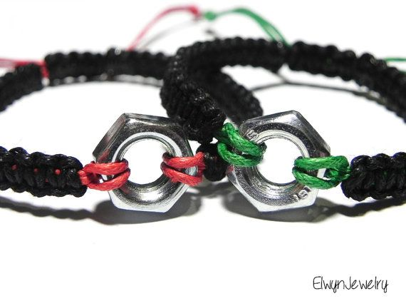 Couple Bracelets Gifts for Engineers Mechanic Gift by ElwynJewelry