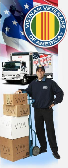 """They come to your home, FOR FREE, and lug off all the stuff you weed out of your clutter.  Totally convenient, you don't even have to be home, they'll pick it up from your back yard!  """"Donate clothes, furniture, toys, & other household items to the Vietnam Veterans of America through a convenient donation pick up at your home.  While other charity services require you to drop off your donations or schedule pickup weeks in advance, we can pick up your donation within 24 hours in most…"""
