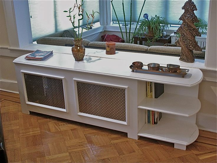 Radiator Cover with Bookcase/Table by Hammer Time Studios at CustomMade.com
