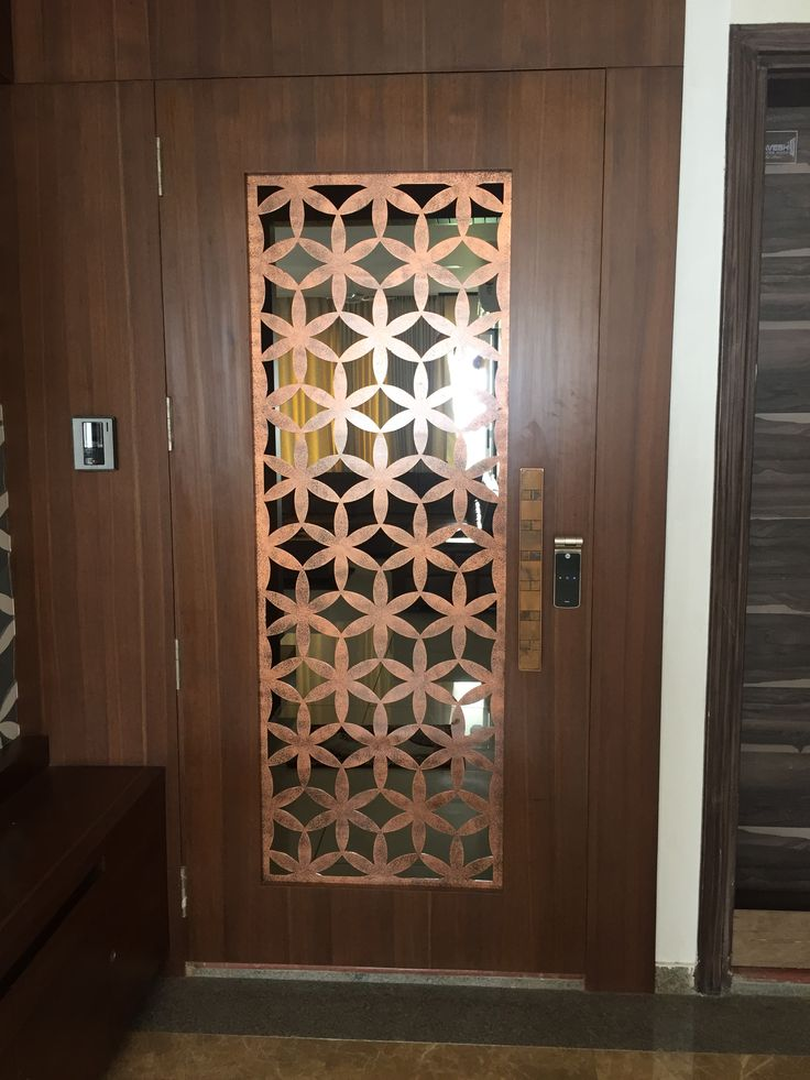 Metal jali metal wall art Wooden screen door Door