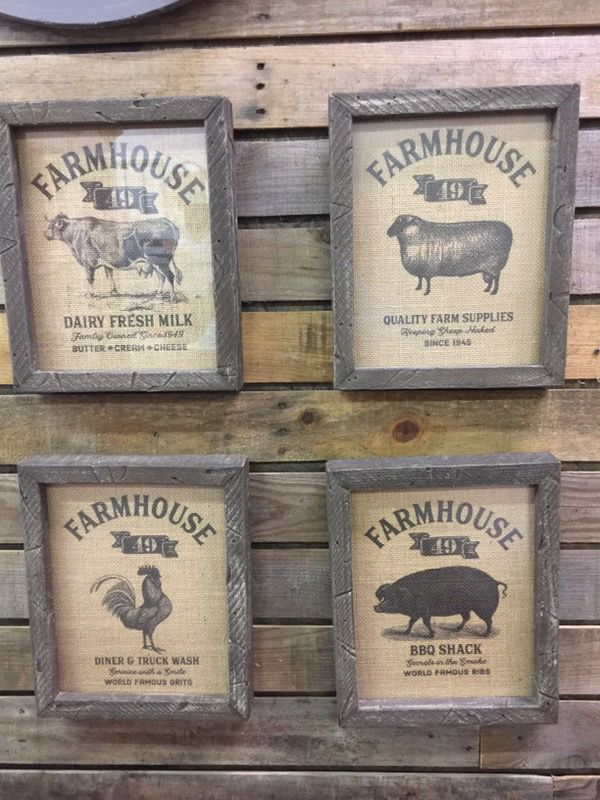 Farmhouse burlap signs – Marcee Duggar Designs