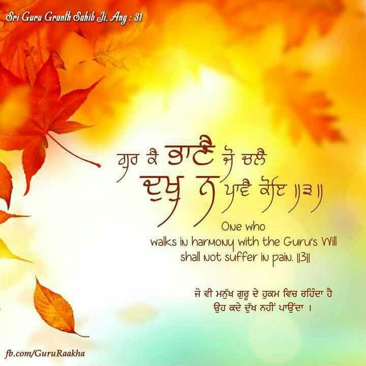 Bhaanaa. God's Sweet Will.