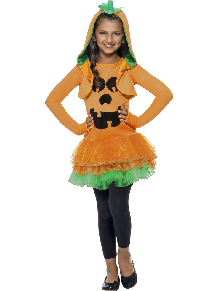 Girl's Pumpkin Tutu Dress Costume