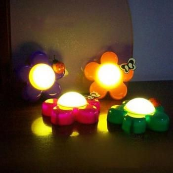 Baby Kid LED Butterfly On Flower Night Light Xmas Decor Lamp