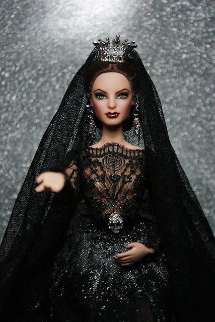 My Repainted Barbie Doll as Vampire Bride. by little dolls room, via Flickr