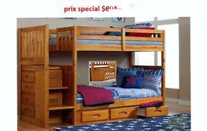 LIT SUPERPOSE SIMPLE/SIMPLE AVEC ESCALIER  PRIX REG.$999  PRIX S City of Montréal Greater Montréal image 1