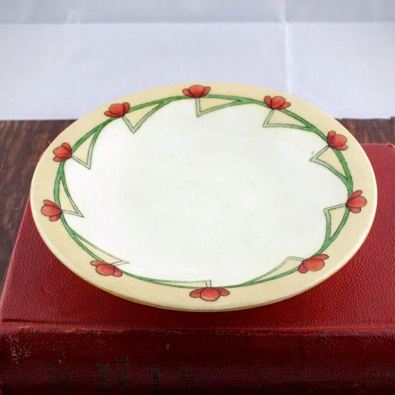 Art Deco Bavarian Dish  Vintage Ceramic Bowl by LoAndCoVintage