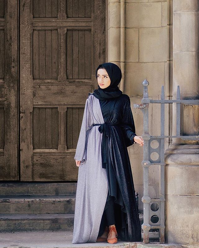 This glitter abaya from @hanaacollection.co.uk is perfect for special occasions  #modestfashion #ootd #vsco