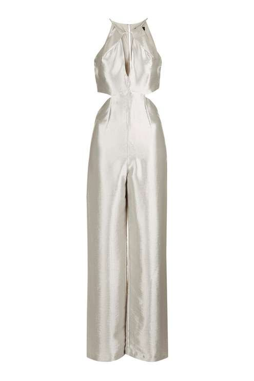 Metallic Cutout Jumpsuit