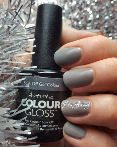 Artistic Colour Gloss Temperamental Available At Louella Belle #ArtisticNailDesign #ArtisticColourGloss #GreyNails #Grey #GelPolish #LouellaBelle