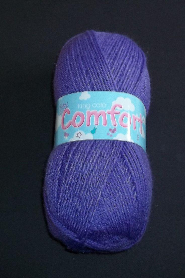 King Cole baby comfort 4ply knitting yarn wool 100gm ball  purple acylic/nylon new by Bobbinswool on Etsy