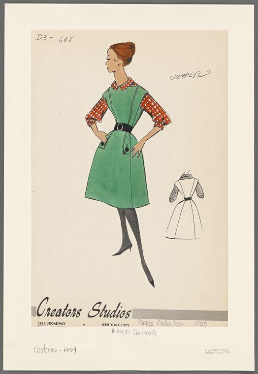 Tesori d'archivio: i bozzetti di abiti anni '50 e '60 dei Creators Studios