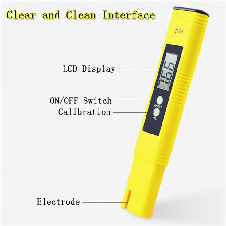 VKTECH Digital LCD Pen PH Meter Tester Aquarium Pool Water Wine Monitor Portable Digital PH Meter With Plastic Box