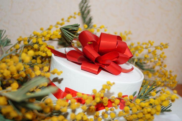 мимоза, подарок