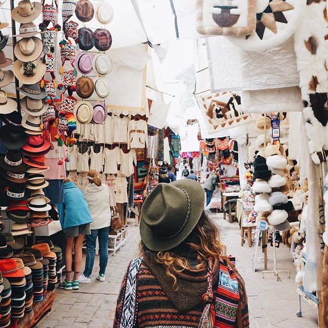 Pisac, Cusco, Peru  Me: I'll take one of everything please. Backpack: Haha, no you won't.   @barkinozdemir exploring the beautiful market in #Pisac with  @hjosullivan. Be sure to visit this area when in Cusco!   #VisitSouthAmerica #ExperiencePeru